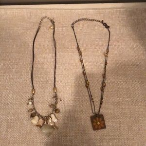 COOKIE LEE 2-Piece Lot of Necklaces